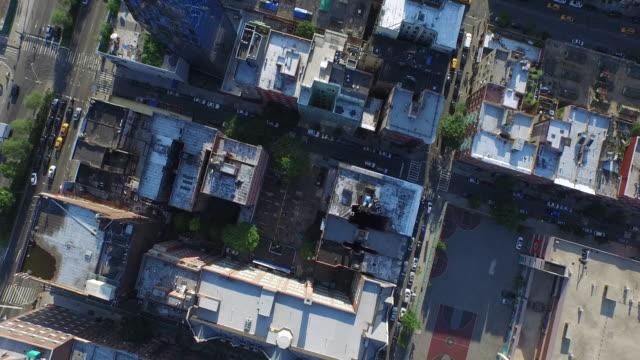 NYC-Antenne-schauen-Schuss-über-Harlem