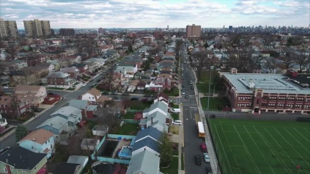 Vista-aérea-de-Cliffside-Park-NJ-de-escuela-y-edificios