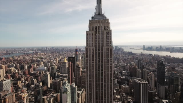 NYC-Aerial-Diagonal-Shot-With-Freedom-Tower-Poking-Out-In-The-Backgound