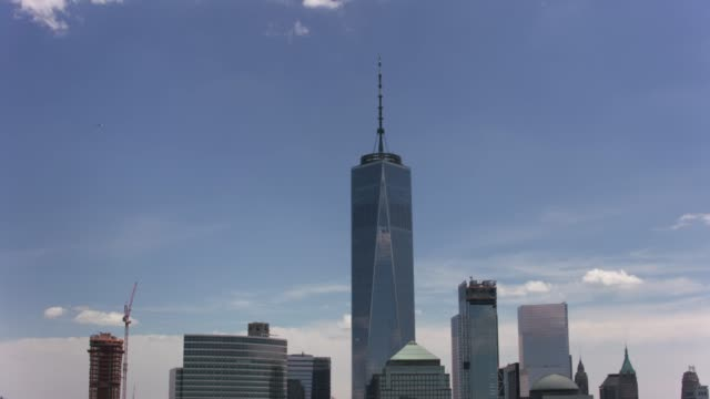 Aerial-shot-of-One-World-Trade-Center-in-New-York-City-