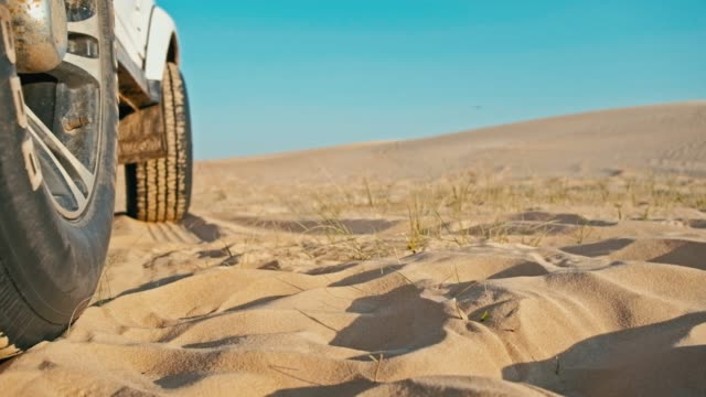 closeup-of-the-legs-of-a-young-woman-next-to-a-4x4-car-vehicle-enjoying-the-sunset-on-one-of-the-desert-sand-dune