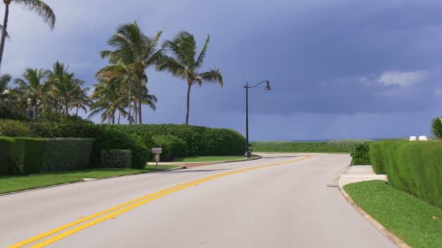 Estados-Unidos-día-de-verano-de-la-ciudad-de-Miami-casa-privado-bloque-viaje-de-4-k-la-Florida