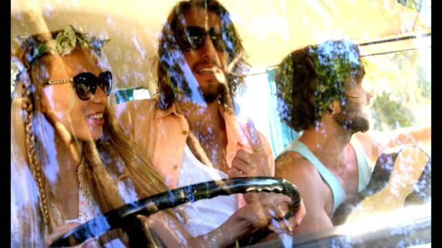 Hipster-friends-driving-a-van
