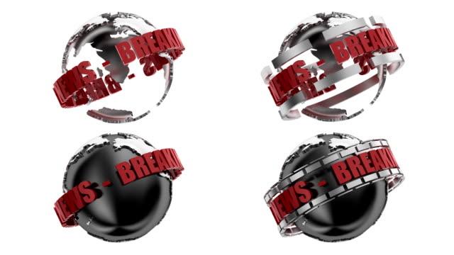 Four-news-globe-animations