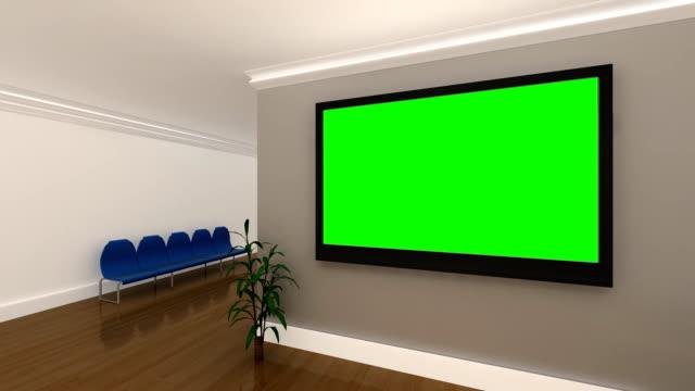 Múltiples-pantalla-verde-fondo-Interior-oficina-animaciones