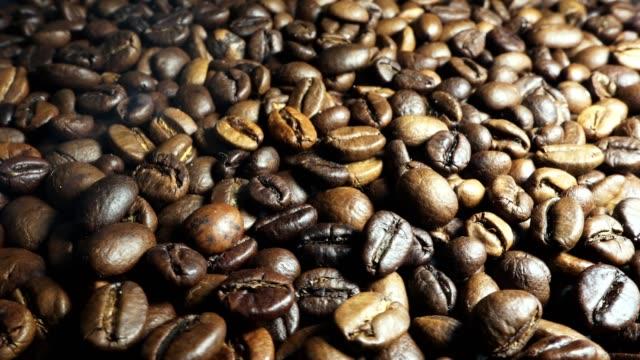 Aroma-of-coffee-Roasted-Coffee-Bean-rising-smoke