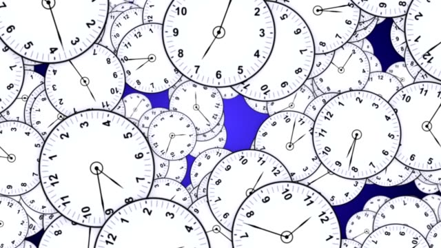 Caída-de-relojes-animación-Fondo-representación-con-mate-alfa-lazo