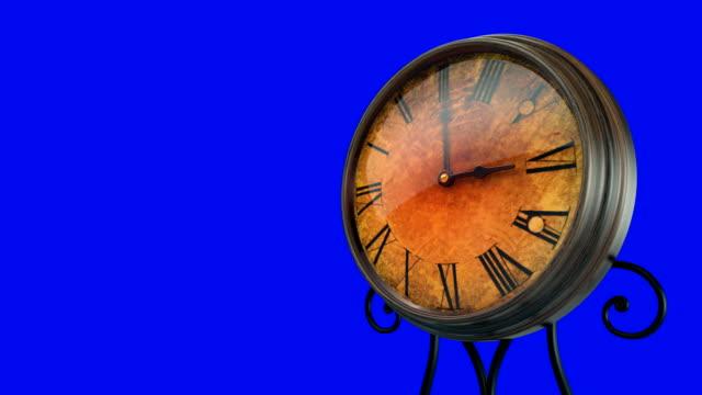 Alte-Uhr-Vintage-Timelapse-+-Chroma-Key