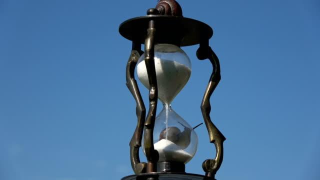 Reloj-retro-giratoria-con-dos-caracoles