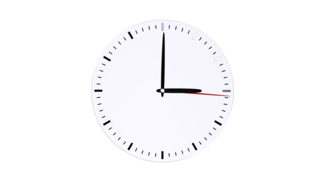 Round-clock-face-without-numbers-on-white-background-