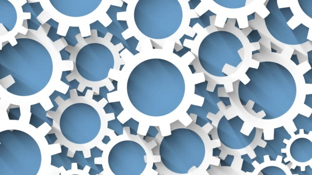 looped-gears-with-long-shadow-blue-background