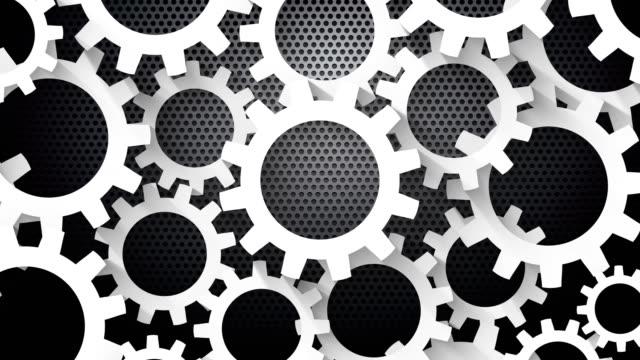rotating-gears-metal-background