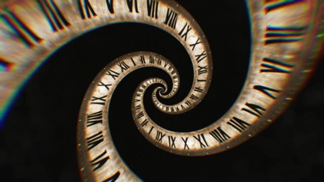 La-rotación-del-reloj-espiral-de-los-números-romanos-Resumen-animación