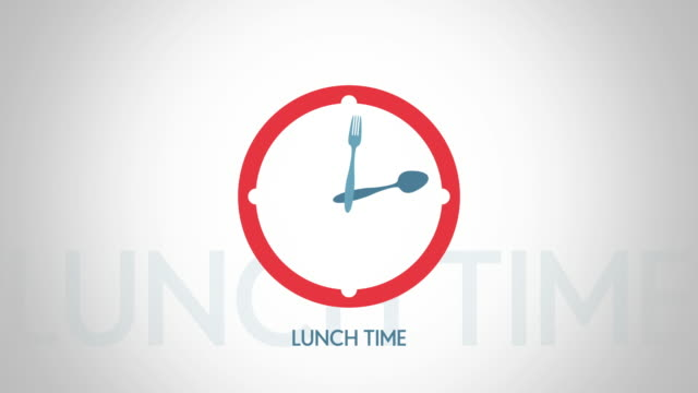 Lunch-time-clock-symbol-animation