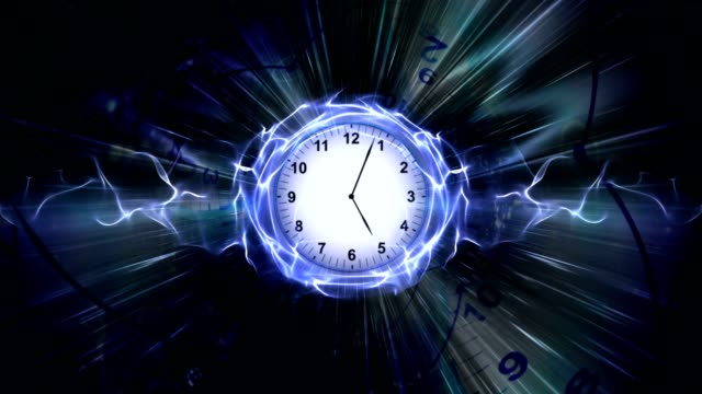 Clocks-Time-Travel-Tunnel-in-Fibers-Ring-Rendering-Animation-Background-Loop