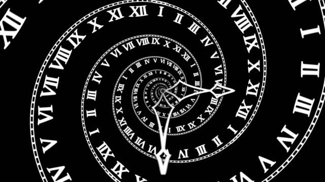 Looping-Classic-Spiral-Clock-(4K)