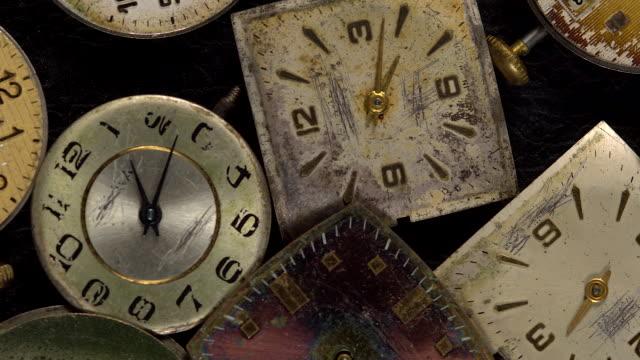 Antike-Uhr-Zifferblatt-Nahaufnahme-Vintage-Taschenuhr-