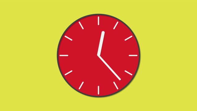 Zeit-in-Bewegung-schnell-auf-animierte-Uhr