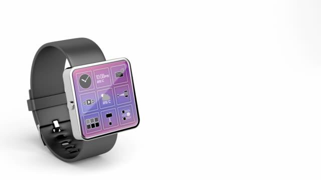 Reloj-inteligente-con-muchas-de-las-aplicaciones