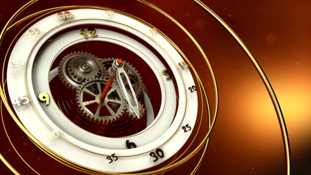 clock-and-dust-particles