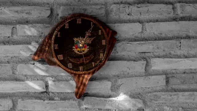 Timelapse-del-reloj-con-formato-y-escudo-de-armas-del-estado-de-Rio-Grande-do-Sul