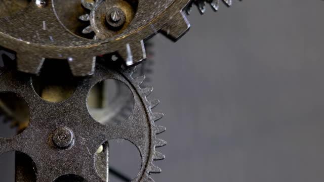 Rusty-Retro-mechanische-Uhr-Zahnräder