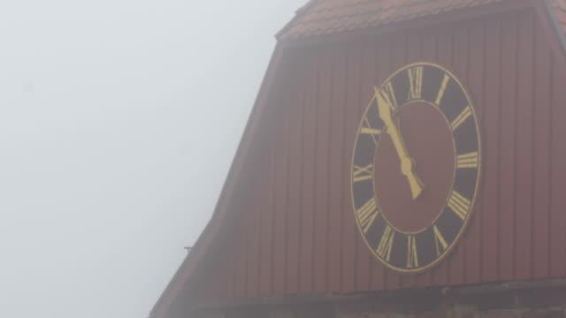 Parish-Church-of-St-Nicholas-Clock-in-Neuleiningen-Germany