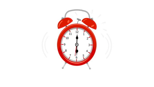 Animación-de-Vintage-alarma-reloj-sonando-animación-con-mate-de-luminancia-opcional-Mate-Luma-alfa-incluido-4k-video