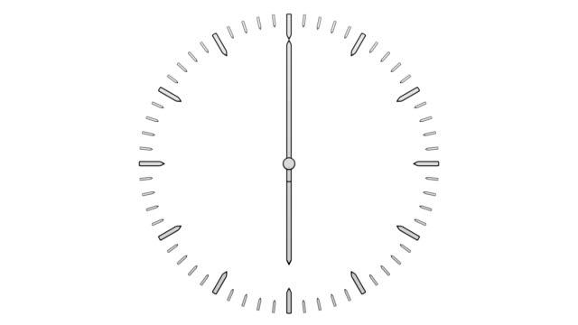 Animation-von-Timelapse-flachen-Zifferblatt-