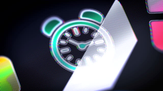Clock-icon-on-the-screen-Looping-