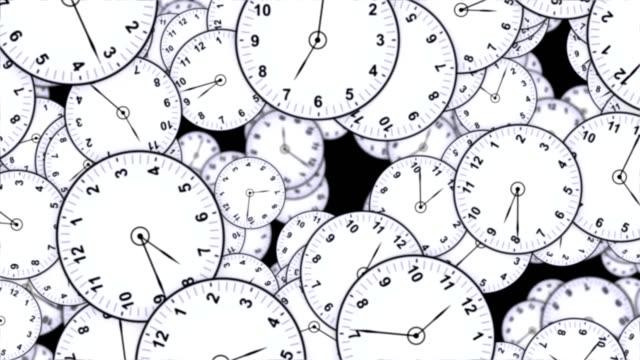 Animación-de-relojes-caen-concepto-de-tiempo-Rendering-Fondo-con-canal-Alpha-lazo