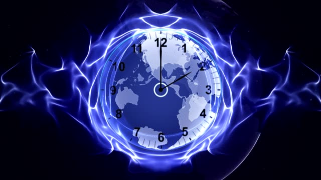 Clock-and-Earth-in-Fibers-Animation-Rendering-Time-Travel-Concept-Background-Loop