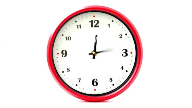 Tiro-de-horas-Lapso-de-tiempo-La-manecilla-de-las-horas-hace-una-revolución-completa-