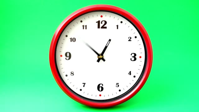 Tiro-de-horas-Lapso-de-tiempo-Disparando-sobre-un-fondo-verde-