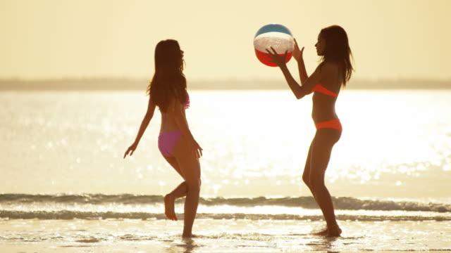Luxury-destination-multi-ethnic-female-on-tropical-beach