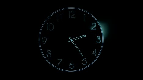 Digital-hologram-of-a-clock-with-ray-light-that-shows-passing-time-