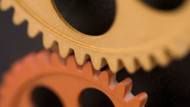 close-up-on-Rolling-wheels-Inside-A-Clock-Mechanism