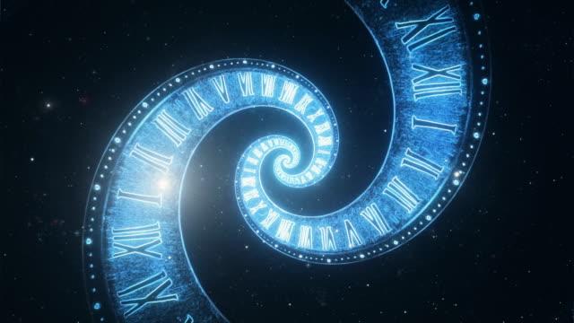 Die-Zusammensetzung-des-Raumes-der-Zeit-den-Flug-im-Raum-in-eine-Spirale-der-römischen-Uhren
