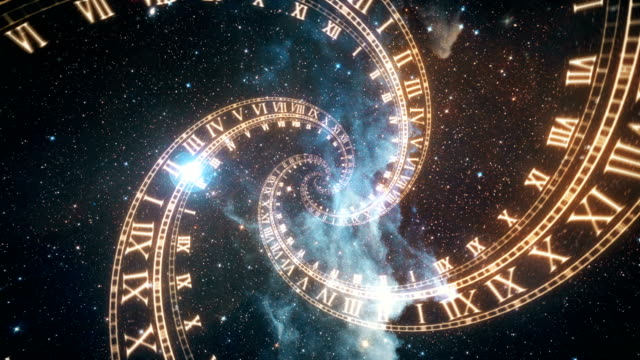 The-composition-of-the-space-of-time-the-flight-in-space-in-a-spiral-of-Roman-clocks
