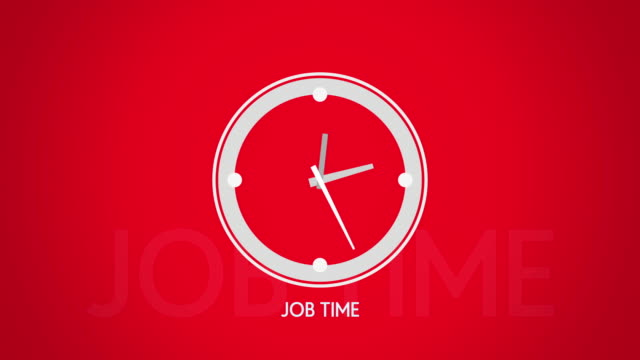 Job-time-white-clock-symbol-flat-animation