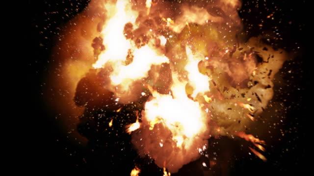 Explosión-realista-de-la-bola-de-fuego-y-ráfagas-con-el-canal-de-luminancia-