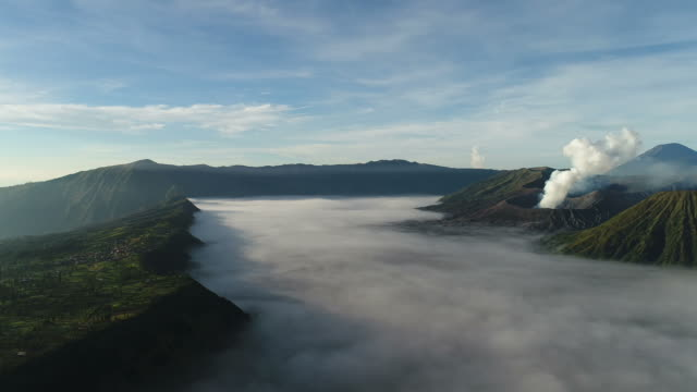 Aerial-view-flight-over-Cemoro-Lawang