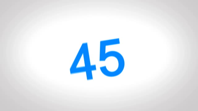 4K-Countdown-Blue-Number-from-60-to-0-seconds-in-white-screen-background