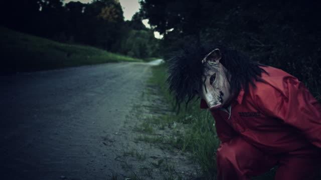 4K-Halloween-Horror-Man-with-Pig-Mask-Looking-Weird