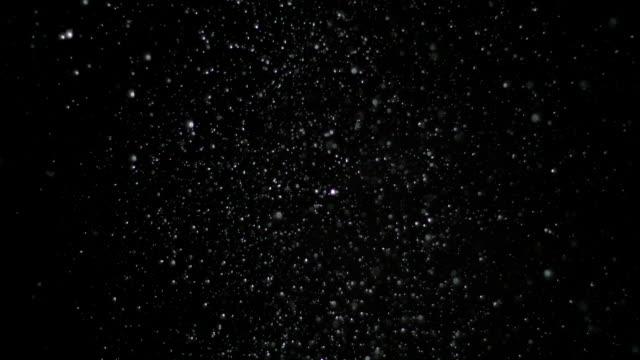 Cámara-lenta-nieve-sobre-fondo-negro