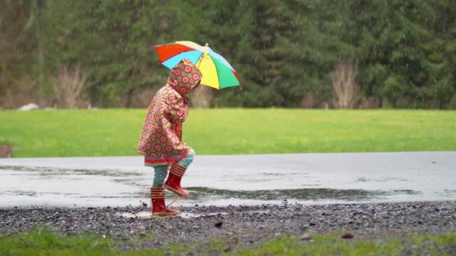 Niña-con-paraguas-en-la-lluvia-lenta