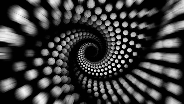 Clocks-Spiral-Animation-Time-Concept-Rendering-Background-with-Alpha-Channel-Loop