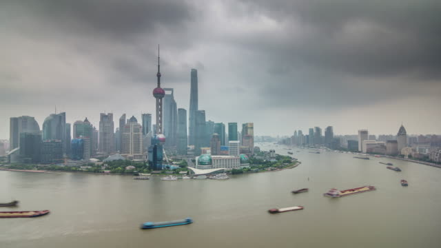 china-shanghai-city-famous-bay-cargo-ship-traffic-river-roof-top-panorama-4k-time-lapse