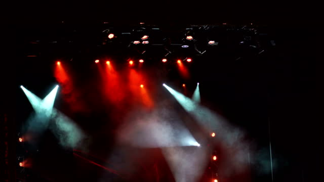 Flashing-concert-light-in-an-empty-theater-