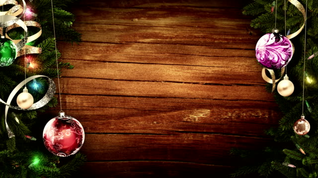Bright-festive-Christmas-frame-on-an-old-rustic-wooden-table-to-create-an-amazing-magic-atmosphere-looped